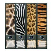 Stickers décoratifs de tranche de classeurs : modèle Safari