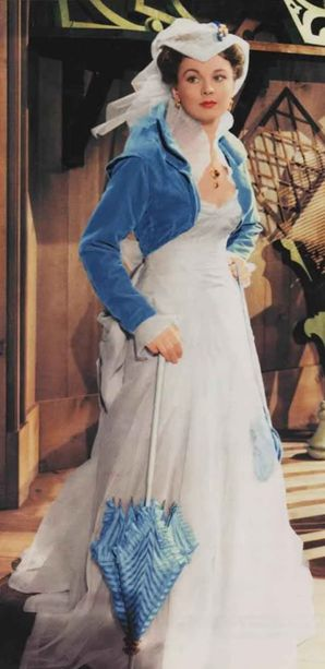 "Vivien Leigh as Scarlett O'Hara, wearing my favorite dress of the movie. ""Gone with the wind / Lo que el viento se llevó"" (1939) 1913+1967"