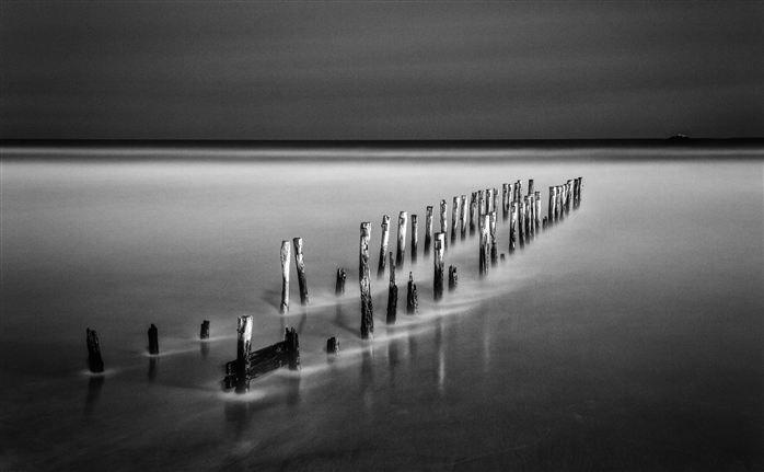 Groynes Reflection by Scott Keenan