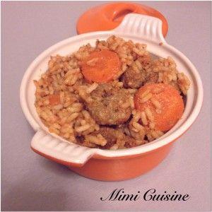 Riz aux boulettes Recette Cookeo de chez Moulinex. Retrouvez pleins de recettes faites au Cookeo sur mon site Mimi Cuisine