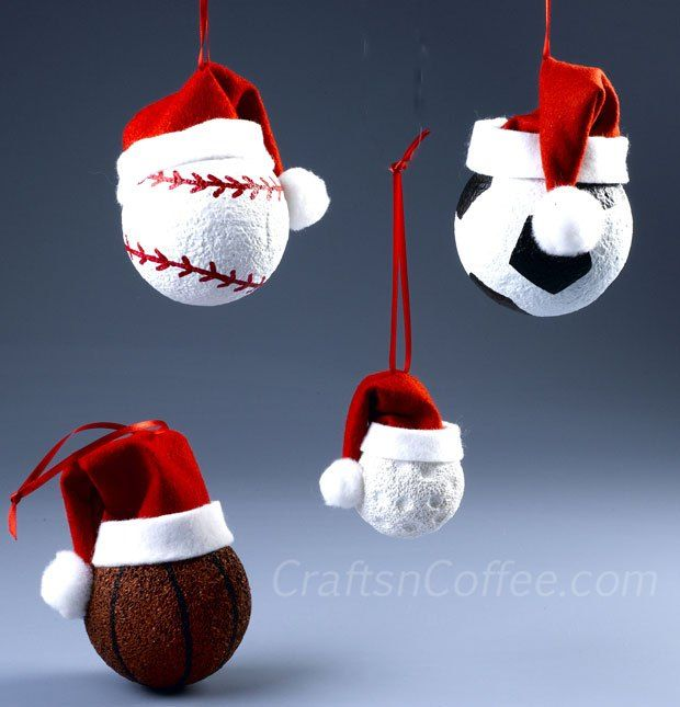 12 best soccer ornaments images on pinterest football futbol and cute collection of diy ornaments for sports fans fun idea for christmas gifts craftsncoffee solutioingenieria Choice Image