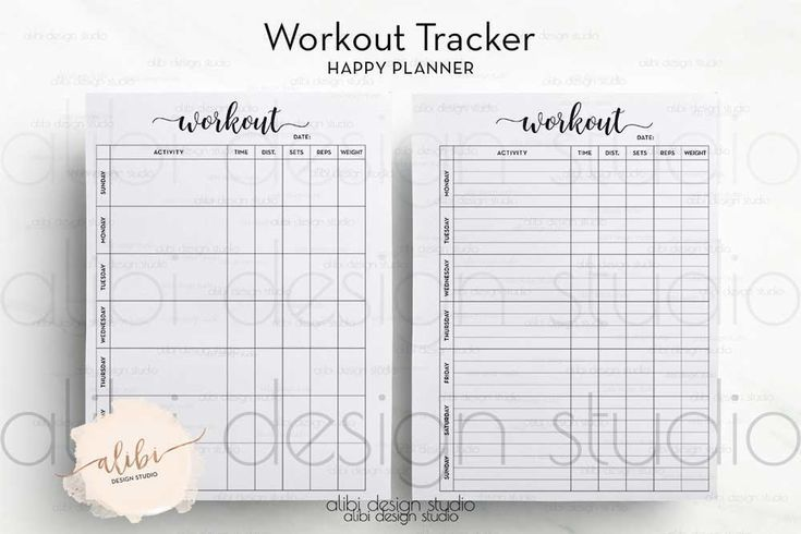 #ETSY #Fitness #happy #Planner #Tracker #workout –