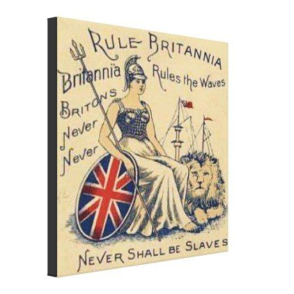 Rule Britannia Canvas Print - #customizable create your own personalize diy