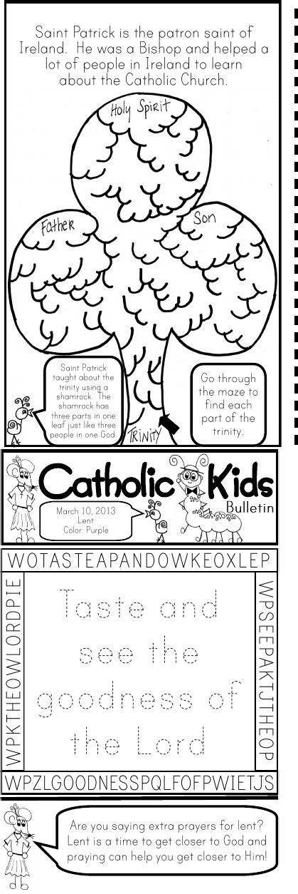 March 2013 Catholic Kids Bulletin