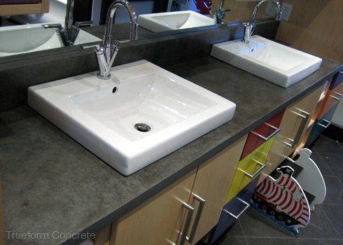 Tops Trueform Yz Bathroom Concrete Custom Trueform Concrete Custom