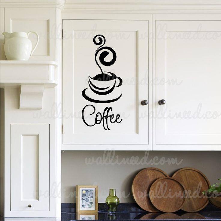 Coffee Cup Sticker Kitchen Decal