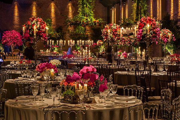 Decoração de casamento pink - mix de clássico com moderno  ( Decoração: Roberta Fasano   Foto: Helson Gomes )