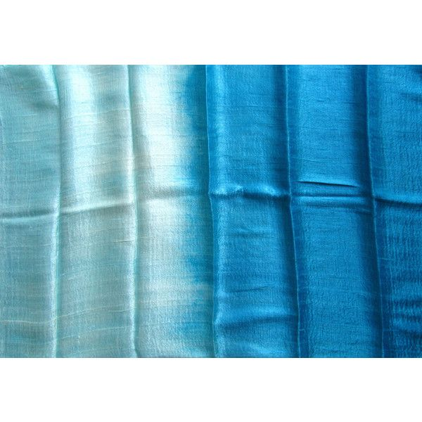 Turquoise Silk Shawl Hand Woven Pure Raw Silk Accessories Wedding Shawl Bridesmaid Gift For Her Hand Dyed Wedding Gift Handmade Accessories (€20) found on Polyvore featuring women's fashion, accessories, scarves, lightweight scarves, shawl scarves, lightweight shawl and woven scarves