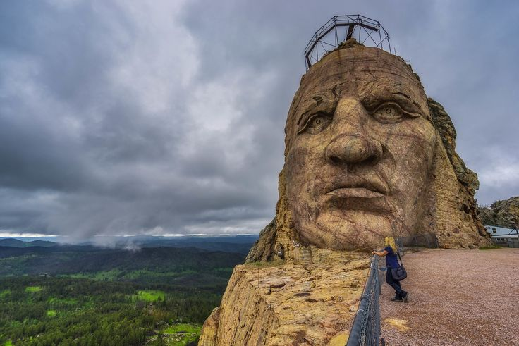 Never pass up the opportunity to get up close and personal with the face of Crazy Horse, only 30 minutes from Rapid City!