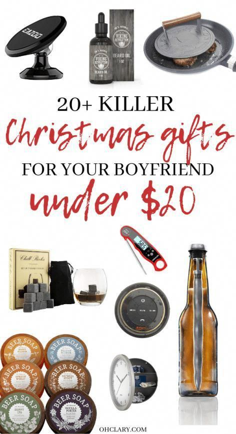 20 Cheap gifts for him for Christmas! Perfect as inexpensive stocking stuffers! These meaningful and romantic presents are great for boyfriends, fianc…