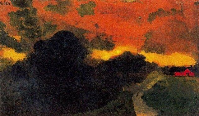 Dark Landscape North Friesland by Emil Nolde: