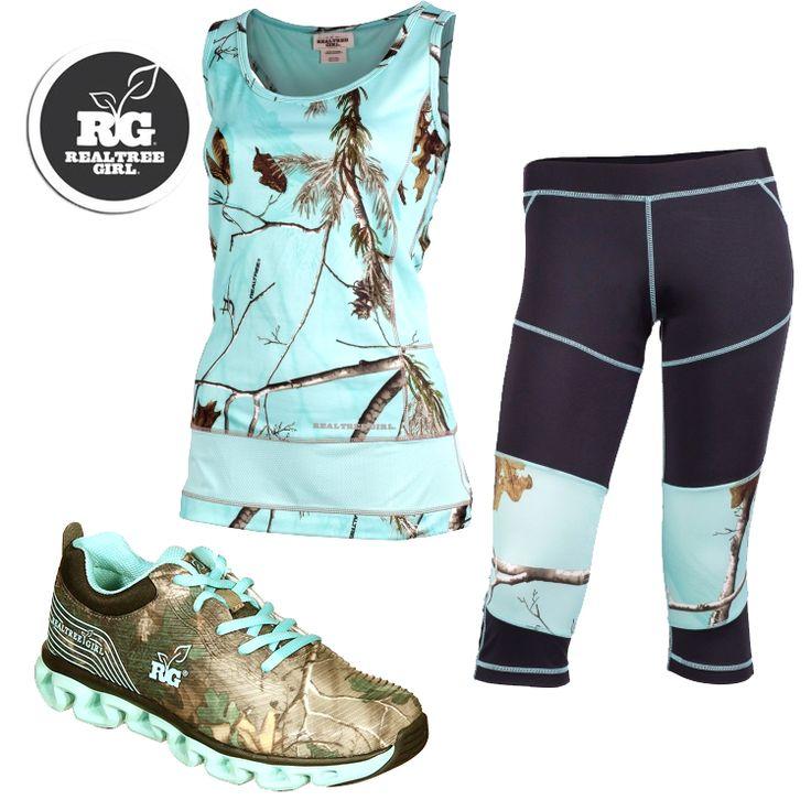 #New Realtree Girl Camo Workout Wear. Love.  #RealtreeGirl