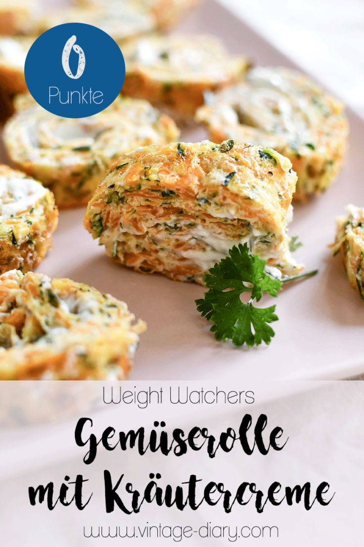Vegetable Roll with Herbal Cream (Weight Watchers)  – abnehmen