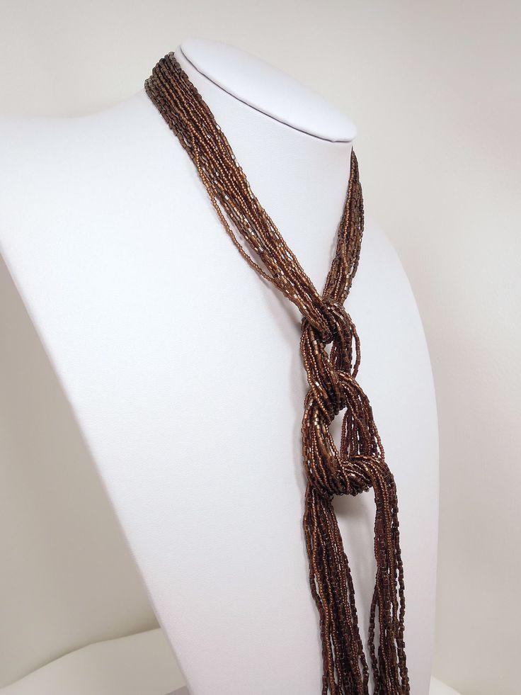 Necklace Cravatta Marone Rialto Store Venice Italy