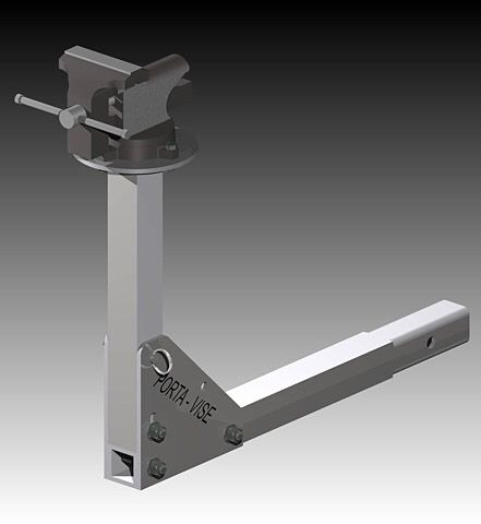 Porta vise folding truck hitch vise , folds into two units only bad thing is it's made from aluminum