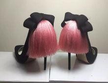 2016 Mode bowtie fringe hoge pompen unieke designer tassl stiletto hakken grootte 34 42 feestjurk schoenen(China (Mainland))