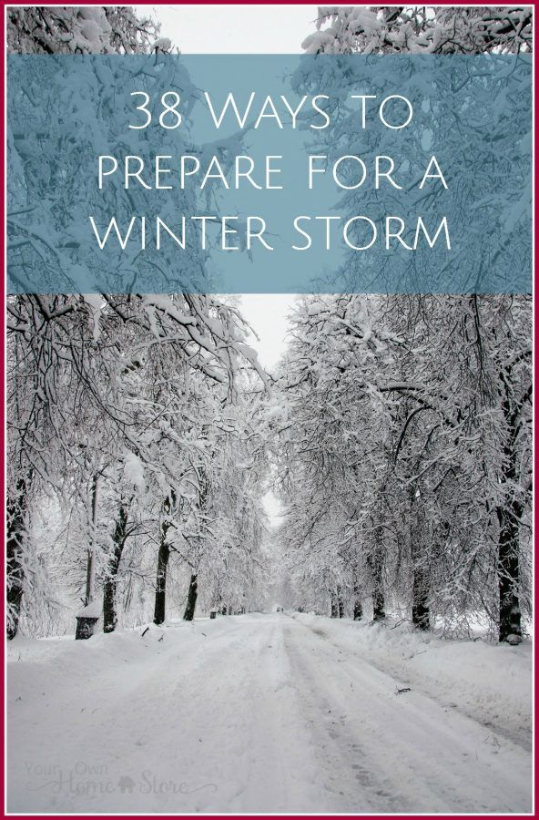 38 tips to get prepared for a winter storm - including a power outage