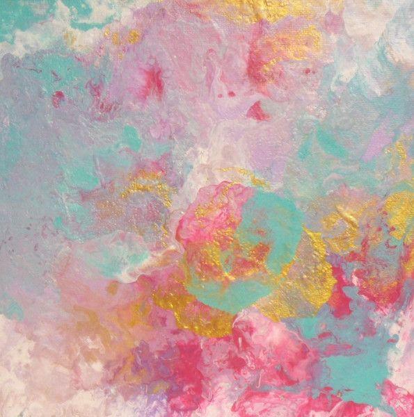 Kunst direkt im Atelier kaufen, 0163-23 18 655. Weihnachtsgeschenk, kleines Geschenk, Kunst kaufen, Lindström, Bilder - Acrylbild, liquid acrylics, winterlich, gold, pink - ein Designerstück von Atelier-Melanie-Landgraf bei DaWanda