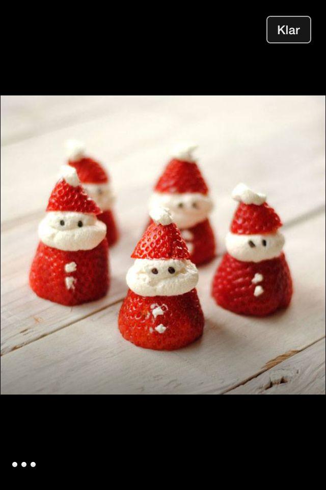 Jultomte av jordgubbe