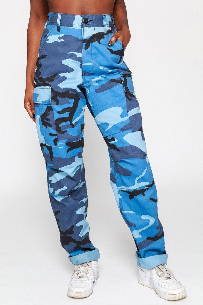 Sky Blue Camo Cargo Pants in 2019  07fe1005ee