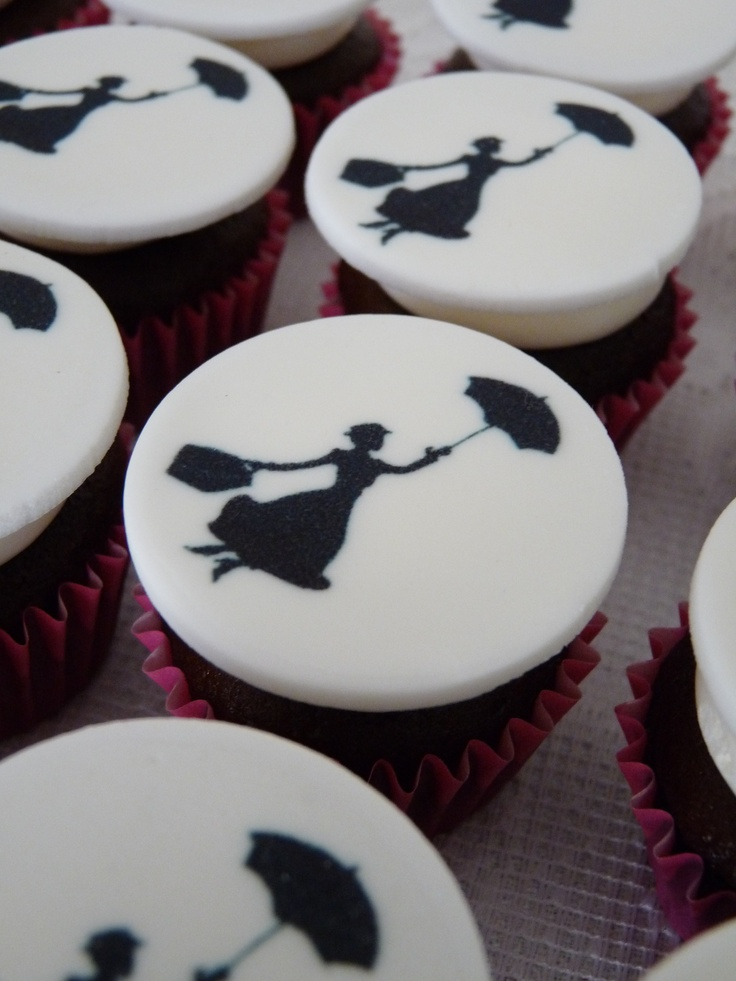Mary Poppins Cupcakes For My Mums Birthday Cupcakes Poppins Cupcake Cakes Mary Poppins