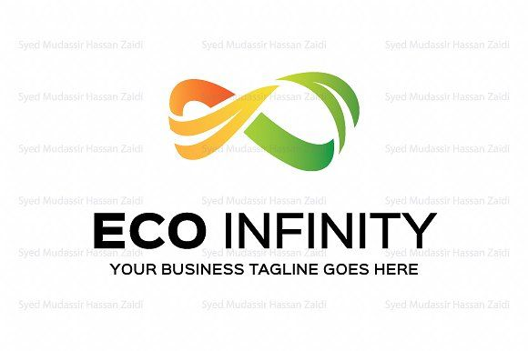 Eco Infinity Logo Template by Mudassir101 on @creativemarket
