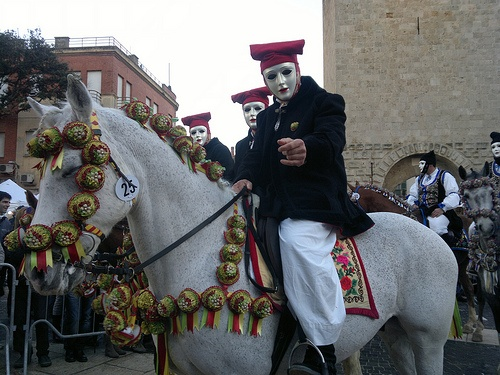 Knights ready to ride. Sartiglia takes place every year the last Sunday and Thursday of the Carnival period.#Sartiglia