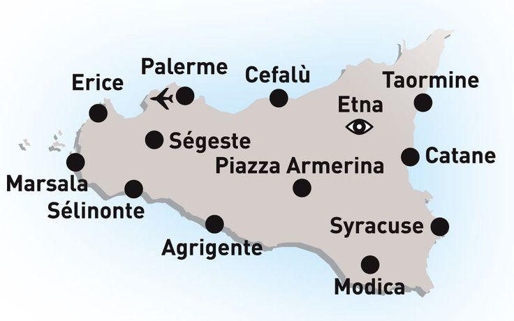 Autotour en Sicile - Le Tour de Sicile - Les plus beaux sites de l'île - arrivée Palerme -Italie Sicile,formule Autotours avec Héliades
