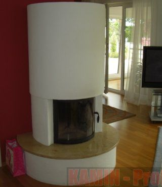 Produktfoto des Kamin Runder Kamin - Jura Marmor von Hausmarke&Andere