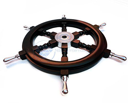 "24"" Handcrafted Nautical Premium Black Ship's Wheel With ... https://www.amazon.com/dp/B01N7NZ5RQ/ref=cm_sw_r_pi_dp_x_LaeVyb0ZCGVG4"