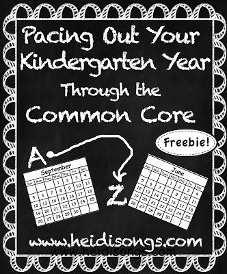 A Kindergarten Pacing Guide for the Common Core- Freebie Download!