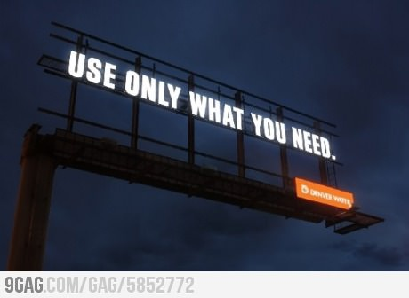 Clever Advertising Level: Water Company - USE ONLY WHAT YOU NEED billboard
