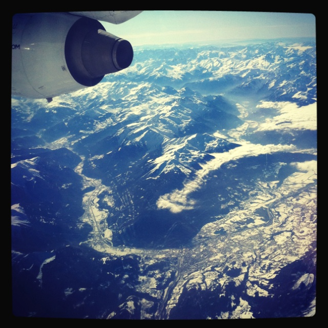 Flying over the French Alpes