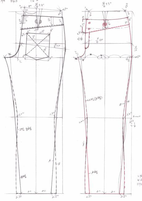 drafting jeans pattern 469b0eaf580ca&filename=청바지패턴2.gif (460×650) from: http://blog.daum.net/heart777/3385024