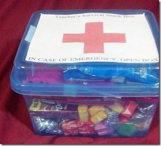"""Love this Teacher Gift!  """"Teacher Survival Snack Box"""""""