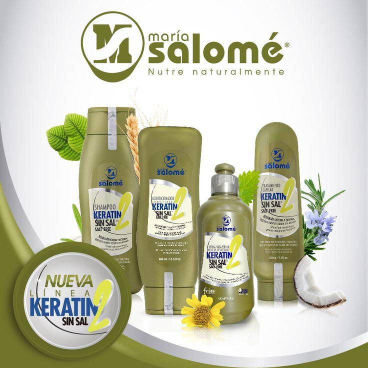 Con la nueva Línea Keratin2 Sin Sal repara, revitaliza, hidrata y acondiciona tu cabello en un 2x4. 1. Lava tu cabello con el Shampoo Keratin2 Sin sal 2. Deja tu cabello suave y manejable con el Acondicionador Keratin2 3. Refuerza la nutrición y reparación con la Crema Para Peinar Keratin2 y 4. Completa el ciclo de reparación con el Tratamiento Keratin2