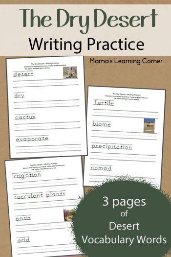 Free Handwriting Practice: The Dry Desert