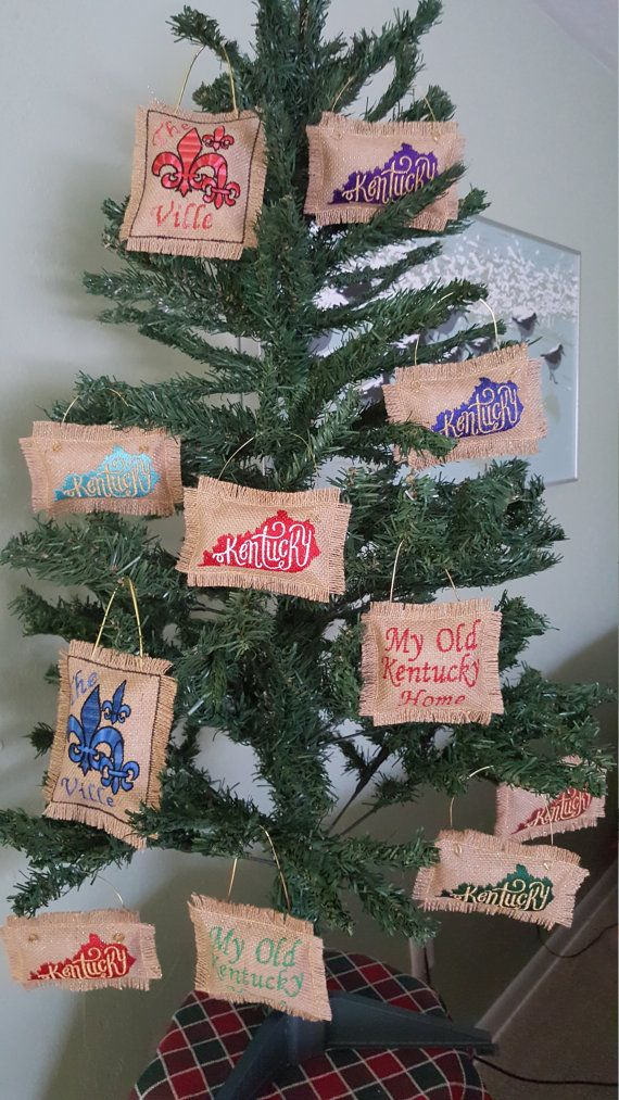 Kentucky Ornaments by peacefullysewn on Etsy