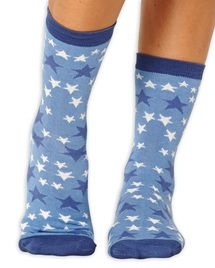 Stellar women's super-soft bamboo crew socks in sky | Made by Braintree