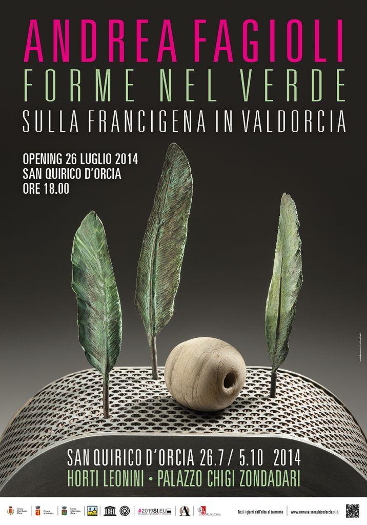 Poster   Andrea Fagioli   Forme nel verde 2014   San Quirico d'Orcia