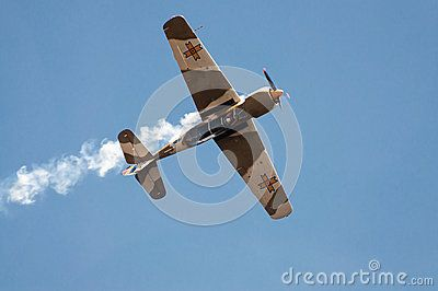 Vintage airplane at air show in Romania – Bucharest International Air Show