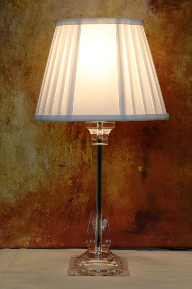 A Vintage Laura Ashley Column Table Lamp With Pleated