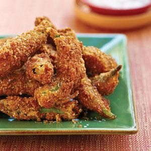 Fried Pecan Okra Recipe   MyRecipes.com