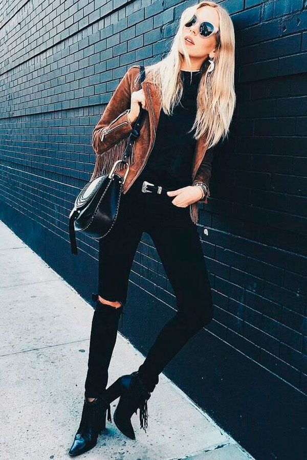 Street Style Black and Brown