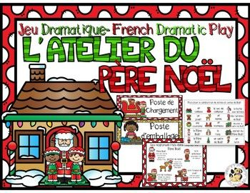 Includes everything you need to set up a French Santas workshop themed dramatic play center. This dramatic play center provides many opportunities for reading, writing, oral communication, social interaction and number recognition. Save now on this product by purchasing the: French Dramatic Play Bundle Includes:open/closed signs job tags description of dutieself duty checklistdirectional signs recipe cardsChristmas countdownletter to SantaChristmas card template letter/card...