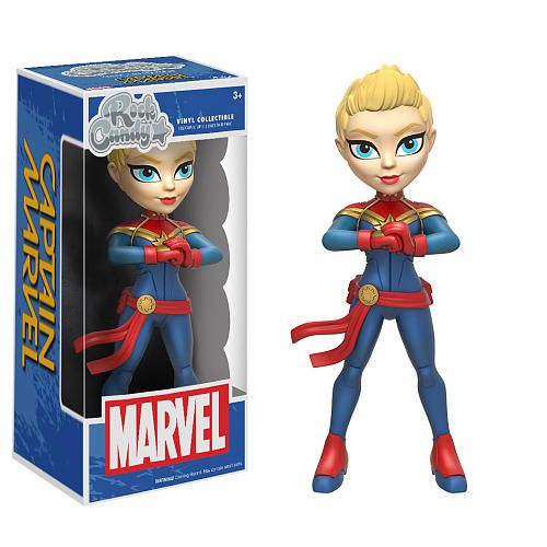 """Funko POP! Marvel: Rock Candy 5 inch Collectible Vinyl Figure - Captain Marvel - Funko - Toys """"R"""" Us"""