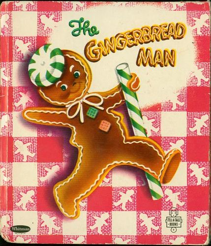 The Gingerbread Man. I have this very book..run run as fast as you can..you can't catch me I'm the Gingerbread Man!