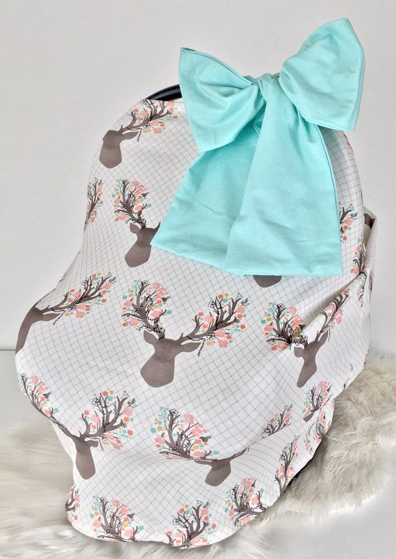 Mint Knit Car Seat Canopy, Nursing Cover & Shopping Cart Cover All