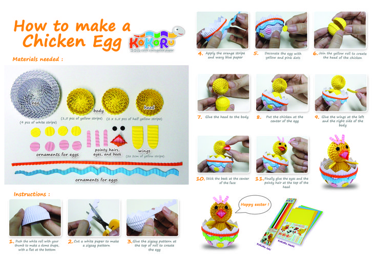 how to make chicken in egg #kokoru #easter
