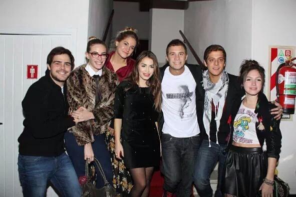 Peter Lanzani, Emilia Attias, Rocio Igarzabal, Mariana Esposito, Nico Riera, Gaston Dalmau y Candela Vetrano. Memories :)